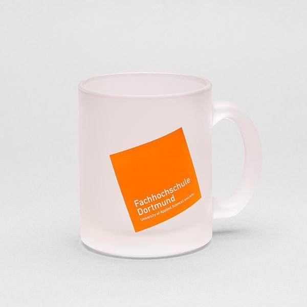 Tasse mit FH-Logo, gefrostet