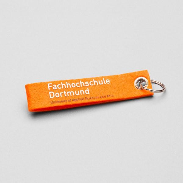 Schlüsselanhänger mit FH-Logo, verschiedene Farben