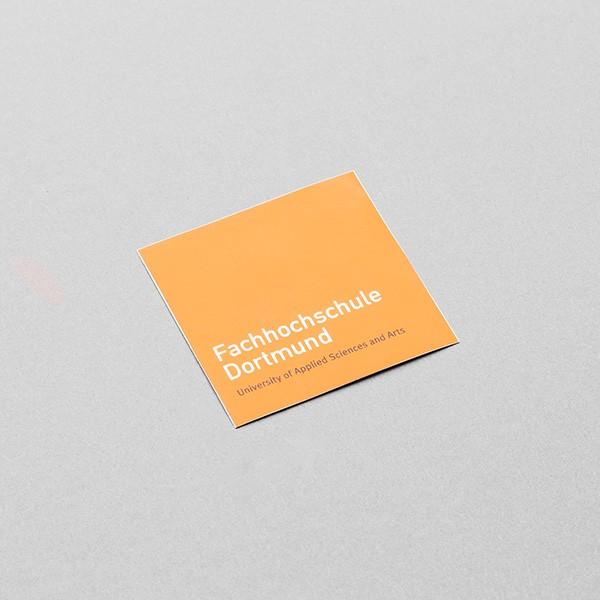 FH Aufkleber, quadratisch, orange