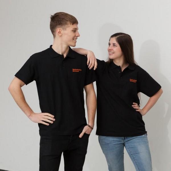 Polo-Shirt mit FH-Logo, schwarz