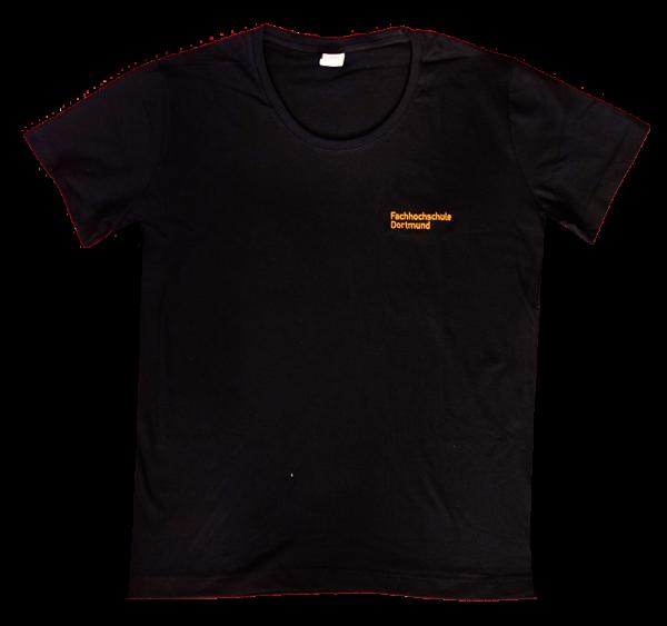 Unisex T-Shirt Rundhals-Ausschnitt mit FH-Logo, schwarz Gr.4XL