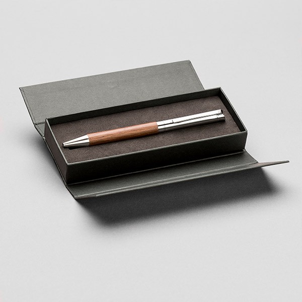 Hochwertiger Kugelschreiber in Geschenkbox, Holz/silber