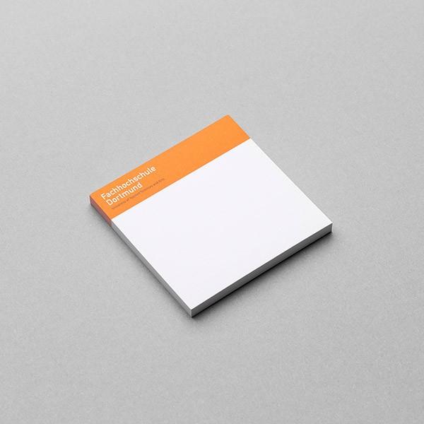 FH Haftnotizen, weiß/orange -verschiedene Größen