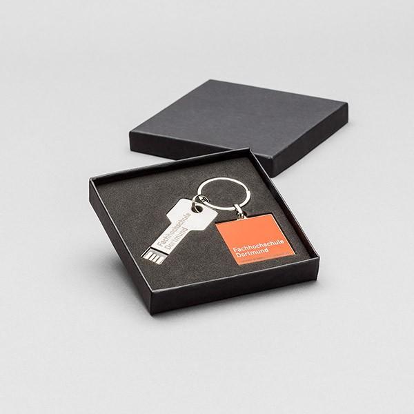 USB-Schlüssel in Geschenkbox mit FH-Logo, silber, 16 GB